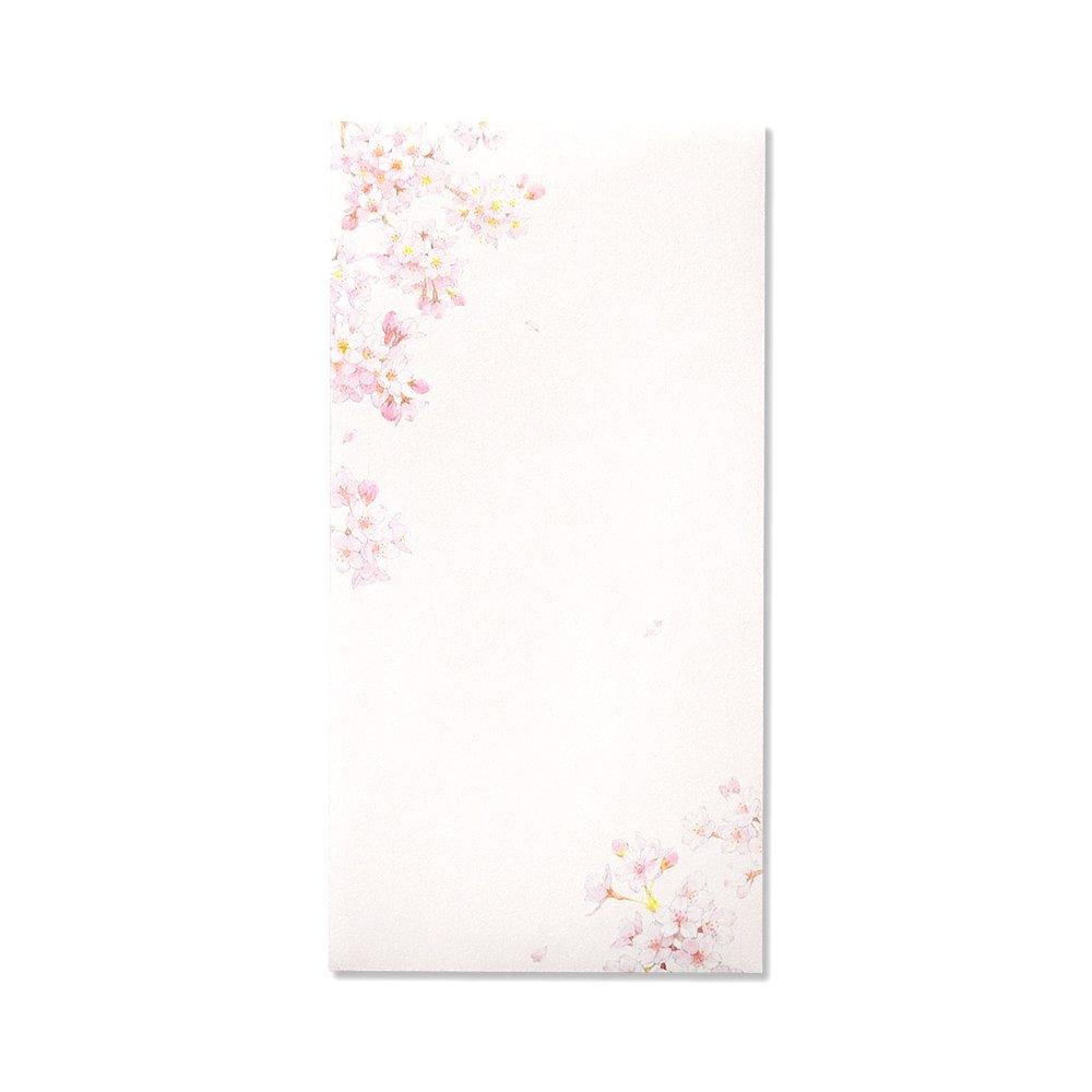 紙司撰封筒花の封筒桜の散歩道