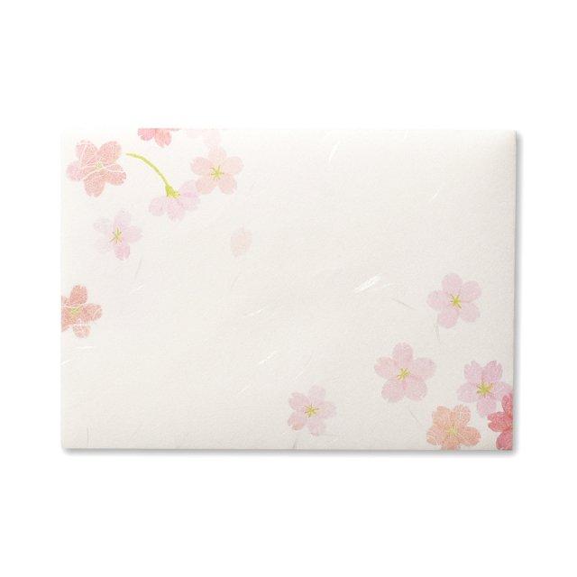 紙司撰 封筒 洋2・桜絵双紙