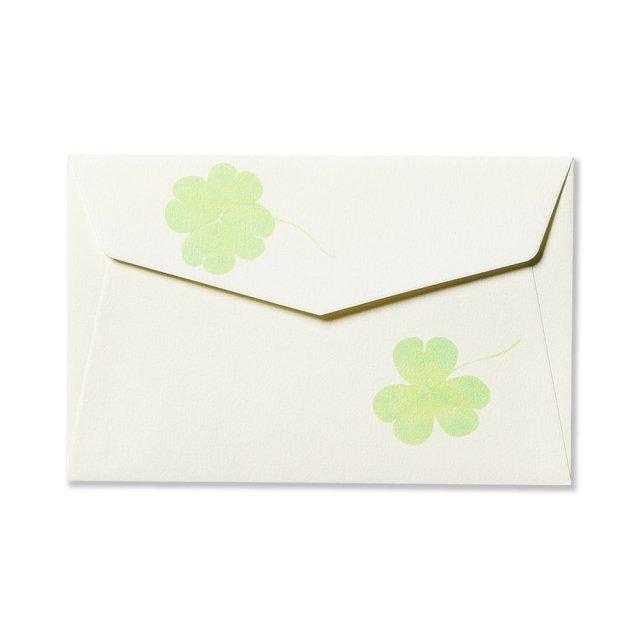 ミニメッセージカード用封筒 クローバーリーフ