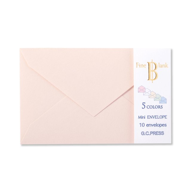 ミニメッセージカード用封筒 ファイン・ブランク カラー