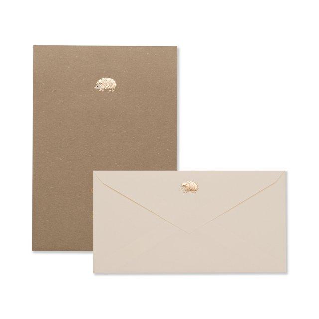 ハリネズミ 便箋/封筒セット