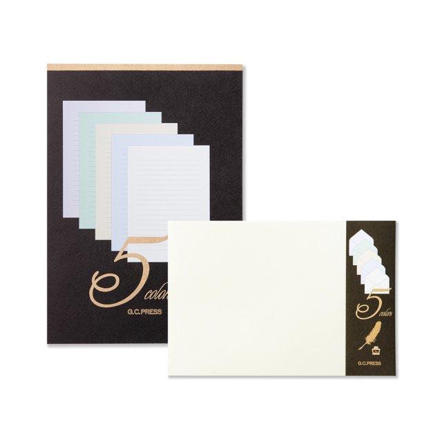 洋ペン書箋5色入り 便箋/封筒セット
