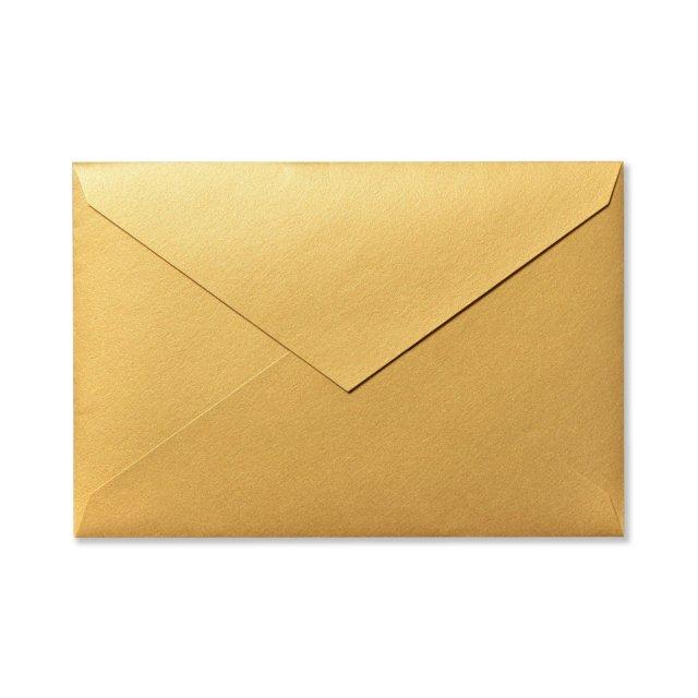 カラー封筒 洋1 5枚 ゴールド