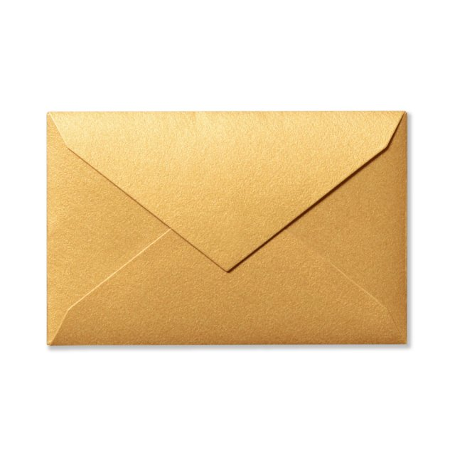 ミニメッセージカード用封筒 ゴールド