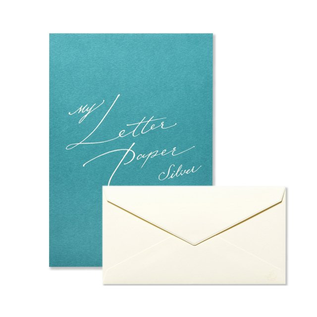 My Letter Paper silver 便箋/封筒セット