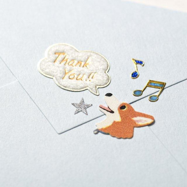 シールデコレーションセット「thank you&スマイルドッグ」
