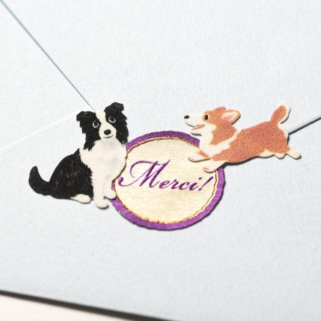 シールデコレーションセット「犬と一緒&messages」