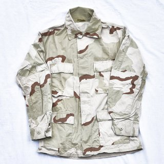 米軍3カラーデザート迷彩BDUシャツ 実物中古品