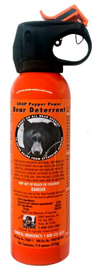 熊撃退スプレー ソロキャンパーには必需品! 速射ホルスター付き!