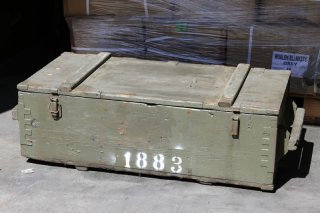ライフル収納、運搬用木箱