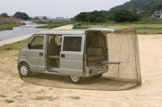 車を丸ごと包み込む虫除けネット カーモスキート 軽四輪用