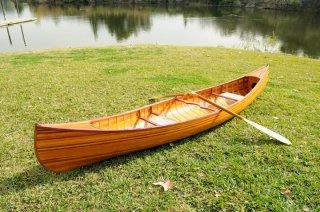 木製カナディアンカヌー 12フィート(3.8m)