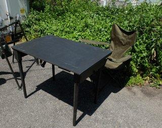 アメリカ軍実物キャンプ用 折り畳みテーブル(木製)デットストック