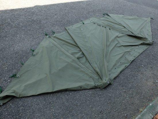 軍幕 米軍仕様パップテント シェルターハーフ コットン100%キャンバス布使用 ファスナー加工済み