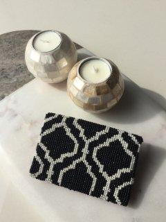 【定番】モロッカン柄カード&コインケース(Black ×Ivory)