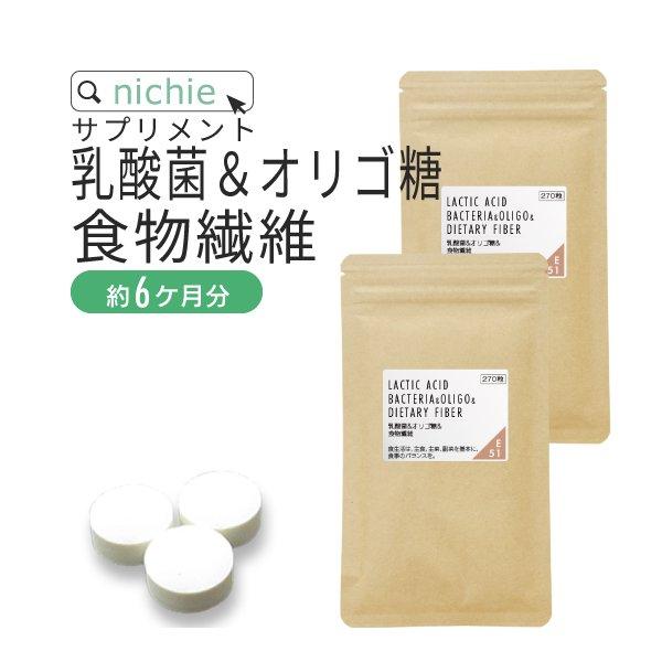 乳酸菌 オリゴ糖 食物繊維 サプリメント540粒(270粒×2袋)