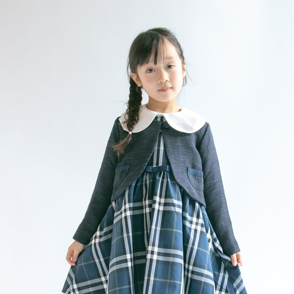 ミックスツイードジャケット / nino(ニノ) / ネイビー / 110-130cm