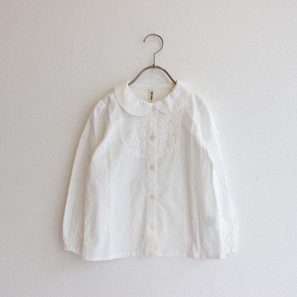 ヨークレースブラウス / nino(ニノ)/ ホワイト / 90-140cm