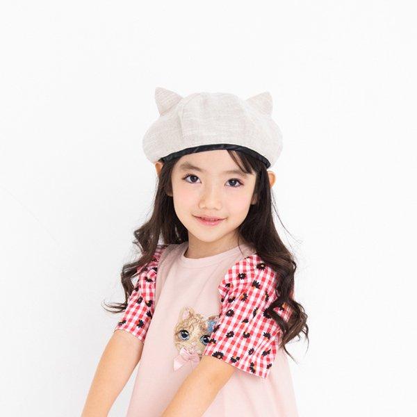 ねこ耳ベレー帽 / nino(ニノ)/ ベージュ / 48-54cm