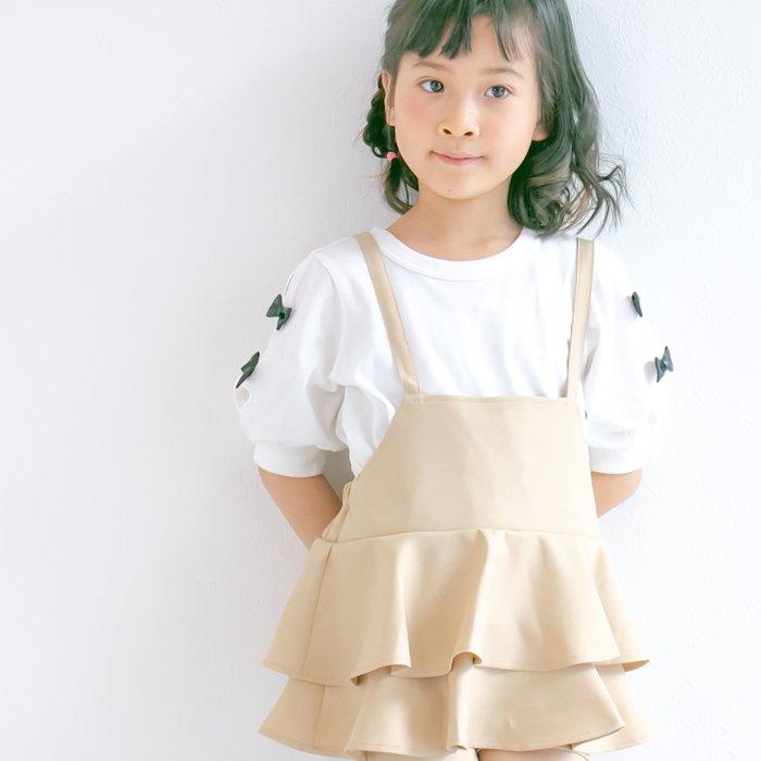 袖リボンTシャツ / nino(ニノ)/ オフホワイト / 90-150cm