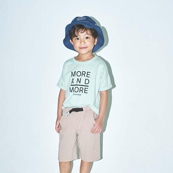 天竺ロゴプリントTシャツ / maarook(マルーク)/ グリーン / 80-160cm
