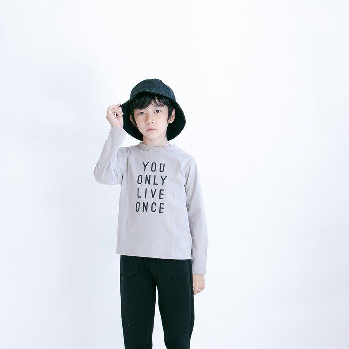 TioTio加工天竺ロゴTシャツ / MAMORU(マモル)/ グレー / 80-140cm