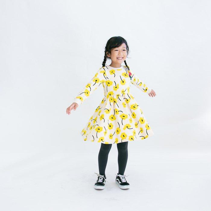 裏毛ポピーワンピース / ワンダーアパートメント  / イエロー系 / 80-140cm