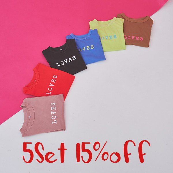 【期間限定5枚setで15%off】 Everyday special T-shirts / MR(マル)/ 120-160cm