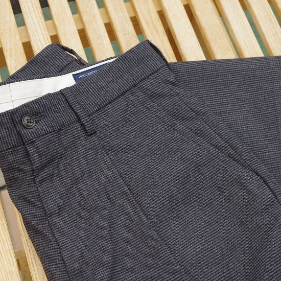 "RICCARDO METHA ""1tuck wide trousers hound tooth"""