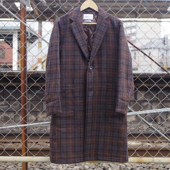 """Vincent et Mireille """"wool check cover coat"""""""