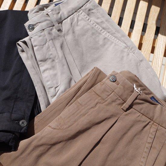 "RICCARDO METHA ""1tuck wide trousers DRAGON TWILL"""