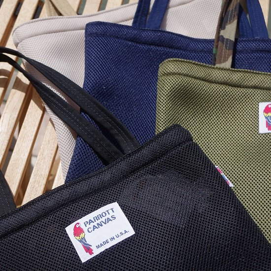 "parrott canvas ""MESH TOTE BAG"""
