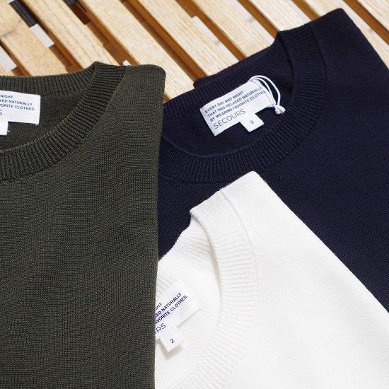 """SECOURS """"hard twist wool yarn whole garment S/S TEE"""""""