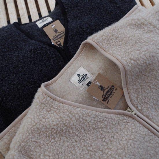 """COLDBREAKER """"wool pile zip cardigan"""""""