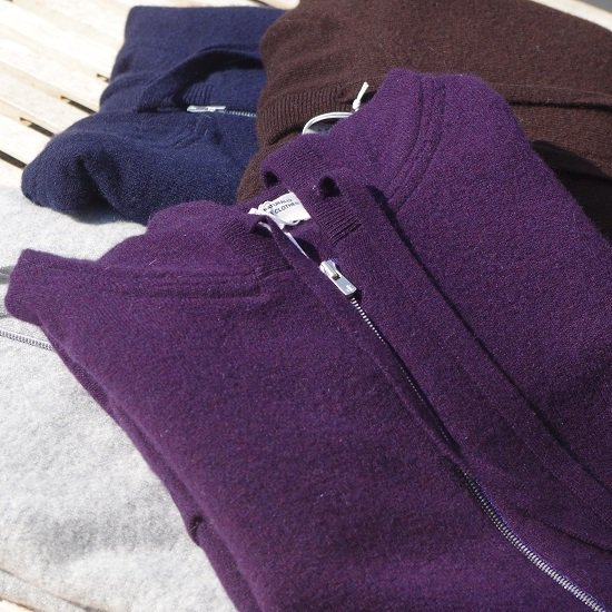 "【30%OFF】 SECOURS ""cashmere-merino wool knit parka"""