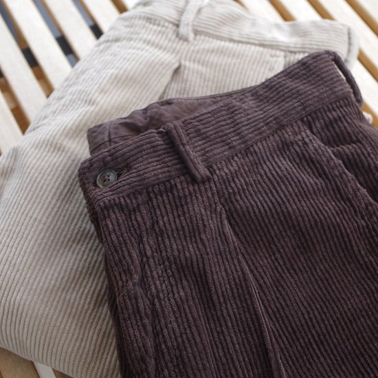 "【20%OFF】 RICCARDO METHA ""1tuck wide trousers corduroy"""