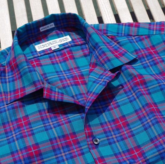 "INDIVIDUALIZED SHIRTS ""Camp Collar S/S Check Shirts"""