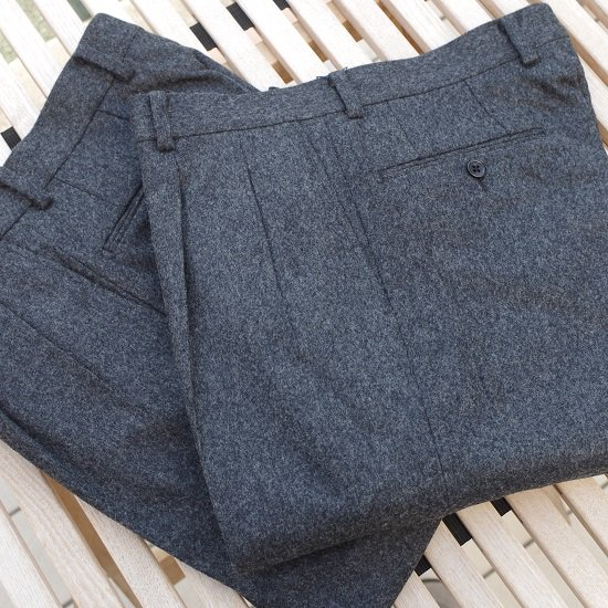 """【10%OFF】  Pt.Alfred """"wool flannel 2tuck trousers"""""""
