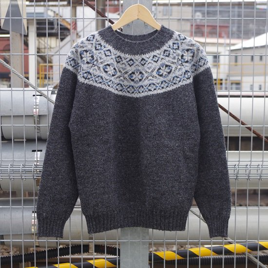 "【10%OFF】 Jamieson's ""Fairisle Yoke Pullover Knit"""