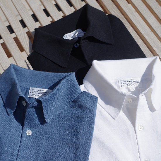 "SECOURS ""SILK&COTTON S/S KNIT POLO""<img class='new_mark_img2' src='https://img.shop-pro.jp/img/new/icons14.gif' style='border:none;display:inline;margin:0px;padding:0px;width:auto;' />"