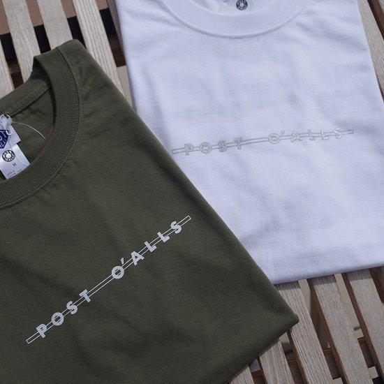 """【10%OFF】POST O'ALLS """"Shop Logo Tee"""""""