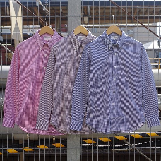 """SECOURS """"120 Broad Gingham Check B.D Shirts"""""""