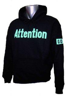 パーカー Attention GO! ブラック
