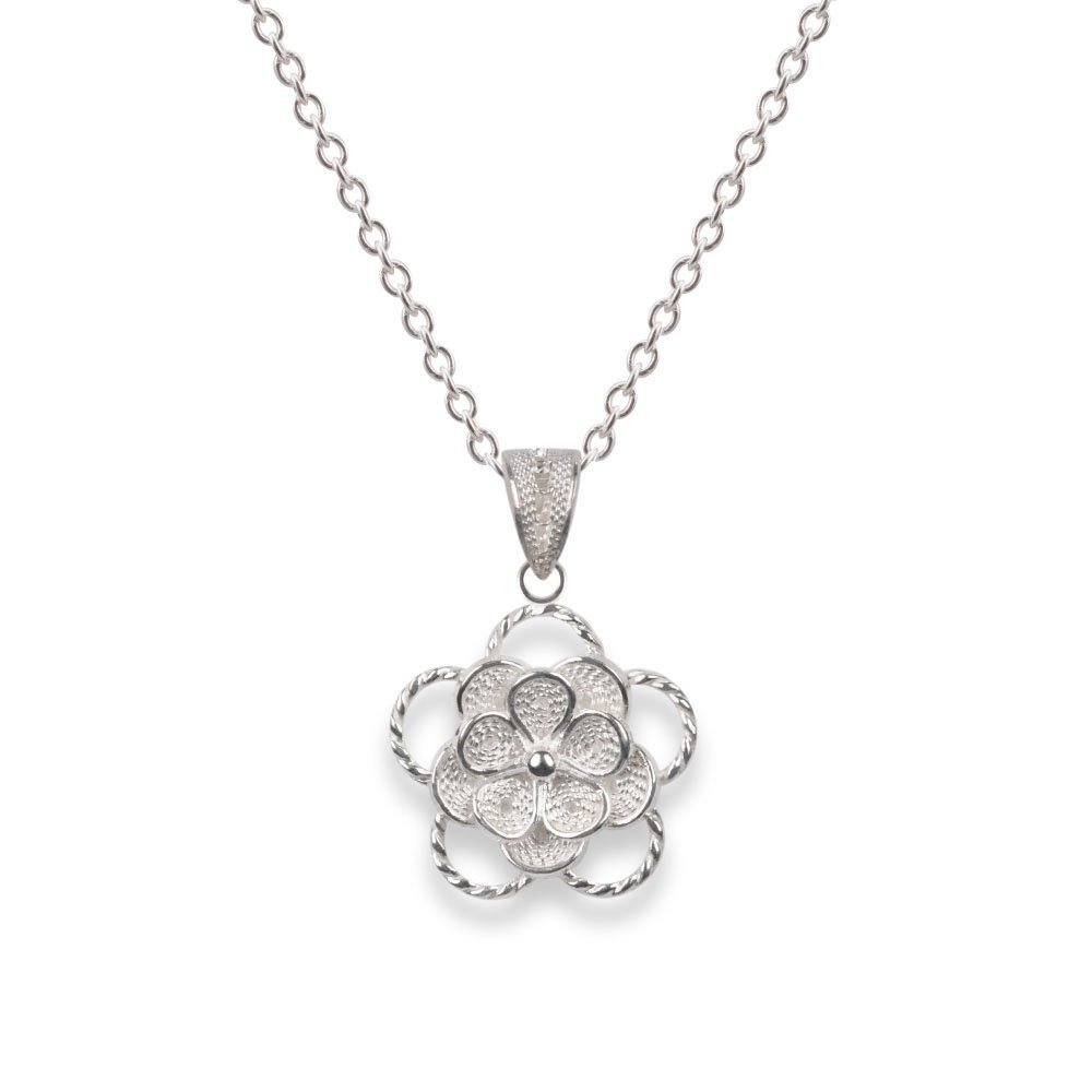 小の花 - Konohana - 三重忘れな草のペンダント