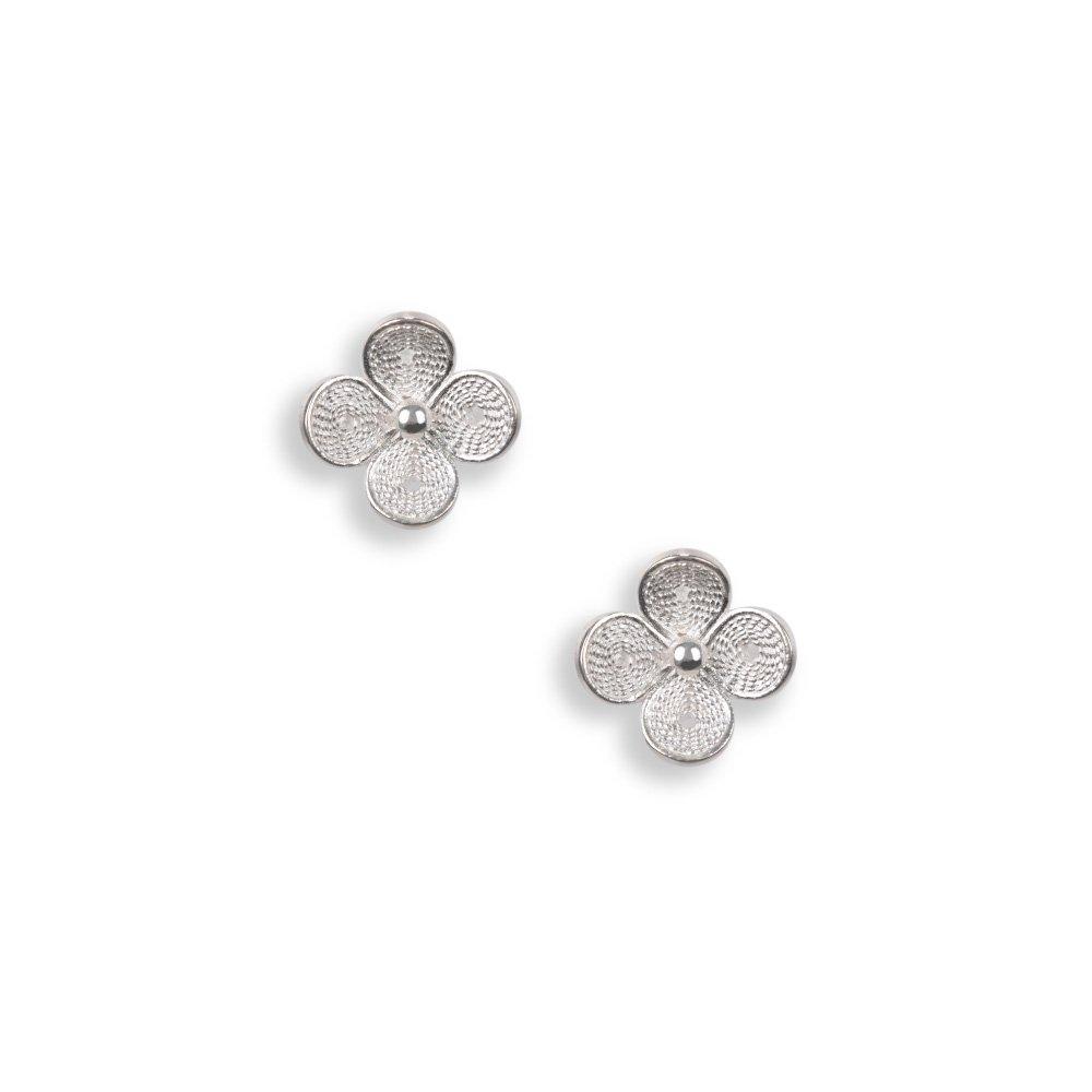 小の花 - Konohana - 菜の花のピアス8mm(キャッチ式)