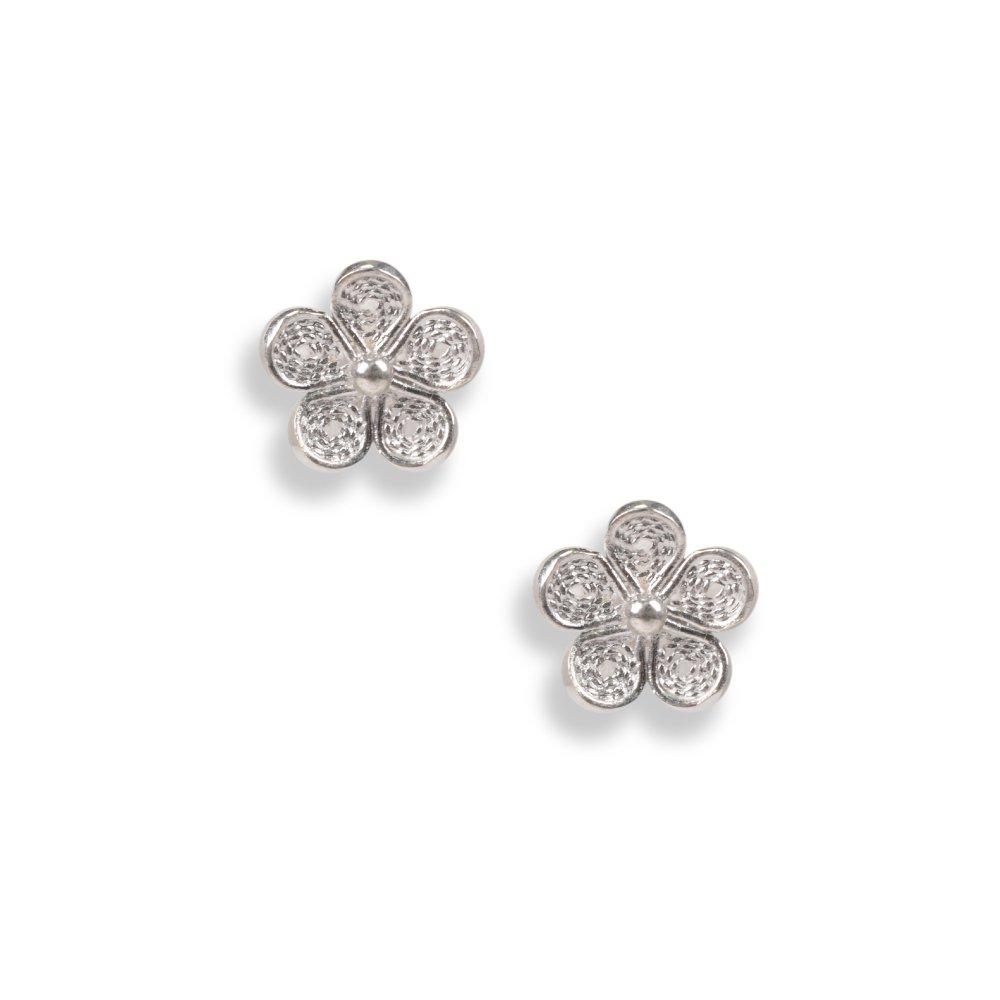 小の花 - Konohana - 忘れな草のピアス10mm(キャッチ式)