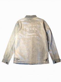 dude&roamer/デュードアンドローマー embroidery bleach drizzler jkt