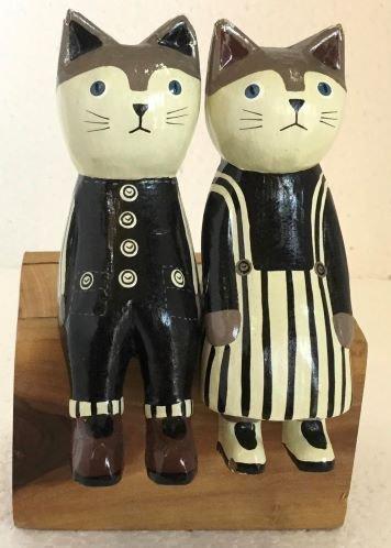 猫カップルジャンバースカート