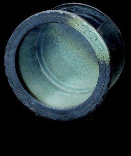 「陶水槽丸(黒釉)中」【信楽陶器卸商業協同組合】