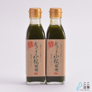 [ここ滋賀]かける小松菜 2本セット【横江ファーム】 ※